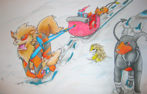 One Arcanine Open Sleigh by Jazz-Rhythm