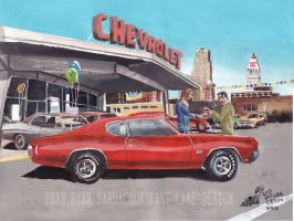 The Life Story Of A 1970 Chevy Chevelle (Part 2) by FastLaneIllustration