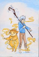 Rise of the Guardians: Jack and Sandman by neverinmyfoot