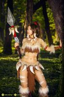 Nidalee - League of Legends cosplay I. by EnjiNight