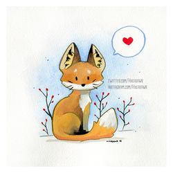 Little Fox in the Snow by Hikasawr