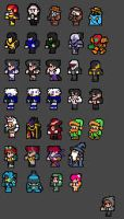 Final Fantasy NES Sprite Fun 2 by Clank-head