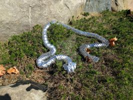 Scalemail Snake - On a Ledge by demuredemeanor