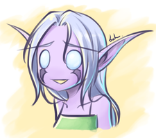 Night Elf Girl by Blackfang9