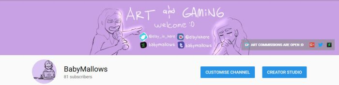 REVAMPED CHANNEL ART by BabyMallows