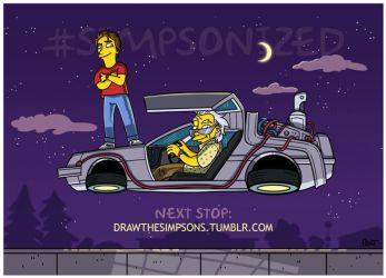 80s BTTF (animated) Simpsonized by ADN-z