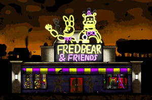 Fredbear and Friends Restaurant Outside View by Playstation-Jedi