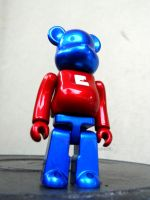 Red Blue basic Bearbrick by xavierlokollo