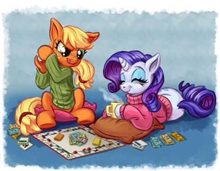 Game Night by harwicks-art