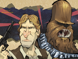 Han and Chewie by BrendanCorris