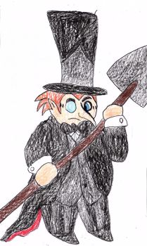 Tom Kenny's Penguin With Shovel by sydneypie