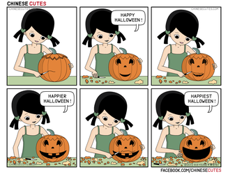 chinese cutes -- '' halloween '' by chinese-cutes