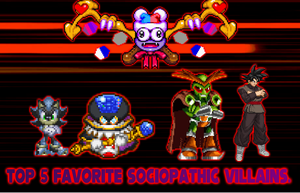 My Top 5 Sociopathic Villains. by DrizzlyScroll1996
