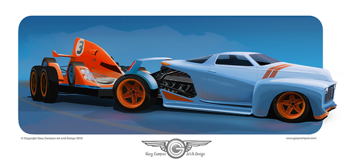 Custom tow vehicle based on a 1952 Chevy Pickup by GaryCampesi