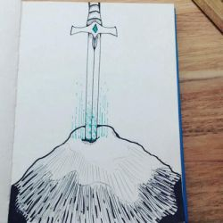 Inktober 2017 day 6 - sword by RogueDraws