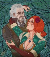 Geralt and Triss by CallofTheDeep