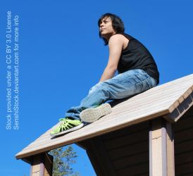 King Chaos on the Roof [Street Clothes Reference] by SenshiStock