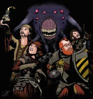 Co-optional Crew in the Darkest Dungeon by SteveNoble197