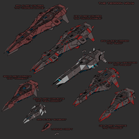 Ships of the Terran Navy by goeliath