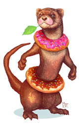 Donut Ferret by Mar-ER