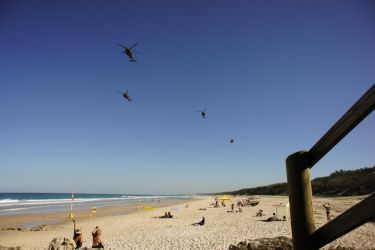 Helicopters over the Beach. by NinthTome