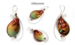 Vegetaria in Green and Copper by Alkhymeia