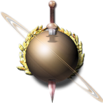 Steampunk Saturn with Sword Icon by yereverluvinuncleber