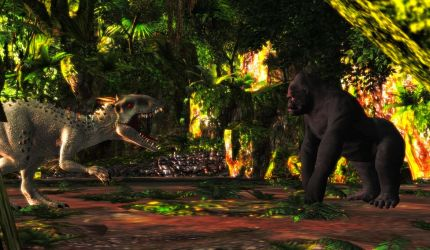 Request: Kong vs Indominus by WOLFBLADE111