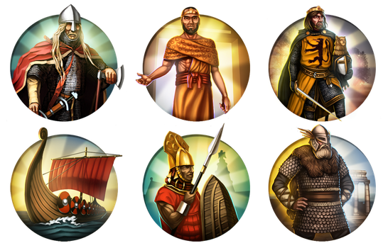 Civilization 5 Mods Icons - Assorted by JanBoruta