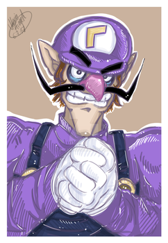 Waluigi Commission by Beliou