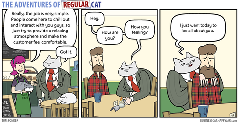 The Adventures of Regular Cat - Cat Cafe by tomfonder