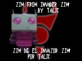 Invader Zim PaperCraft by talic017
