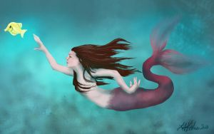 Fiona the mermaid by LeeAnneKortus