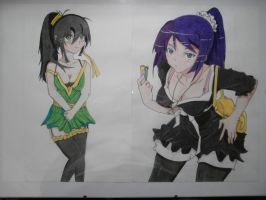 My own character and Sanjougahara by Wicher91