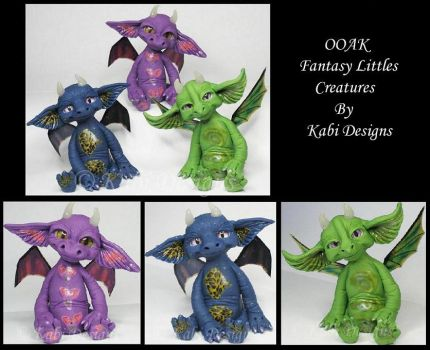 Handmade Polymer Clay Littles Dragons Creatures by KabiDesigns