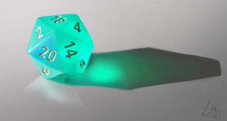 Study of a d20 dice by fakeplasticcats