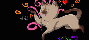 S. Korea Cat colored by nightwindwolf95