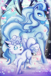 Alolan Vulpix and Ninetales by Animechristy