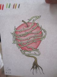 Tattoo apple by RavenZee