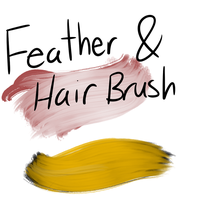 Feather and Hair Brush (FA) by 18Gingasoldier