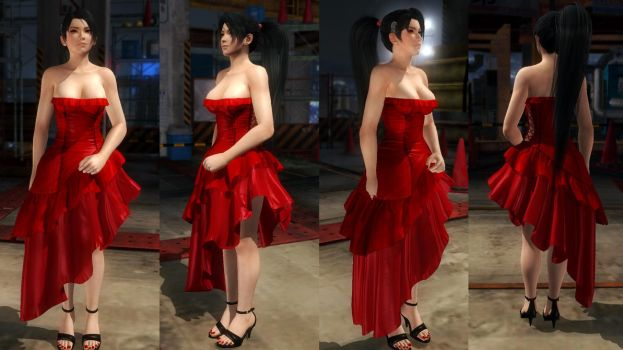 Momiji red dress by funnybunny666