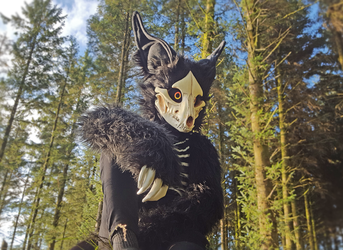 Cadaver Fursuit by wingedwolf94