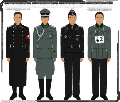 Overview of Joachim Peiper's Uniforms by Grand-Lobster-King