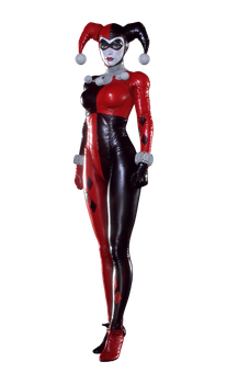 Batman Arkham Knight Harley Quinn Render PNG by GamingDeadTv