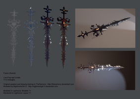 Furion (Sword) Low Poly Test by NightmareGK13