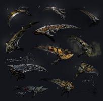 Scythe Variants by 2blind2draw