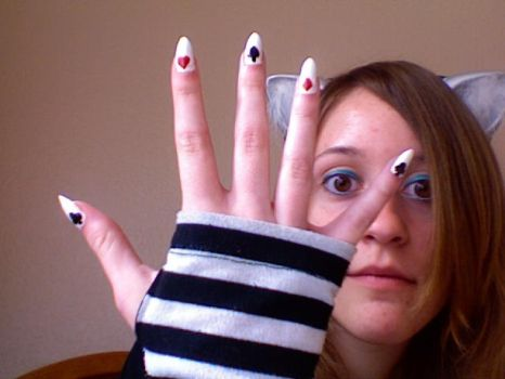 playing card nails by Corupted-Data