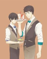 SouHaru : Iwa-Same Cafe by sawa-rint