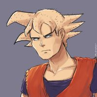 Clean Shaven Goku by oshirockingham