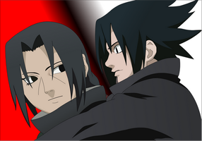 itachi and sasuke by Darrajunior